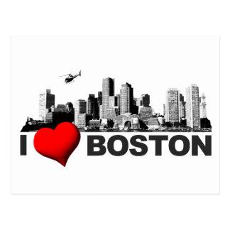 I corazón Boston Tarjeta Postal