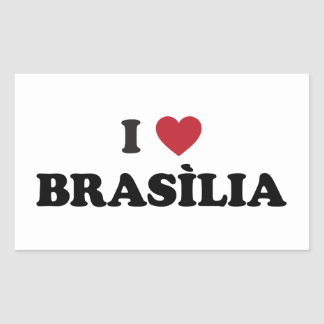 I corazón Brasília el Brasil Pegatina Rectangular