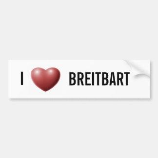 I corazón Breitbart Pegatina Para Auto