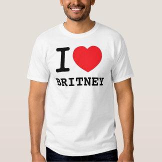 I (corazón) Britney Remera