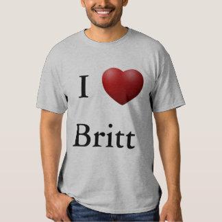 I corazón Britt Playeras
