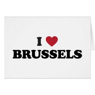 I corazón Bruselas Bélgica Tarjeta De Felicitación