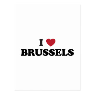 I corazón Bruselas Bélgica Tarjeta Postal