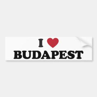 I corazón Budapest Hungría Pegatina De Parachoque