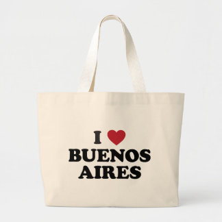 I corazón Buenos Aires la Argentina Bolsa Tela Grande
