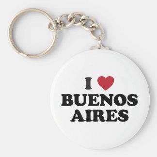 I corazón Buenos Aires la Argentina Llavero Redondo Tipo Pin