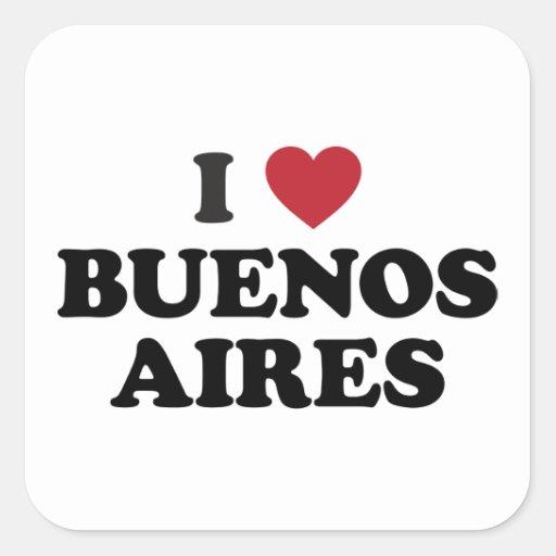 I corazón Buenos Aires la Argentina Pegatina Cuadrada