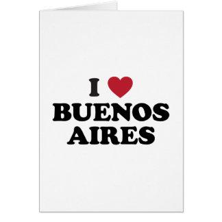 I corazón Buenos Aires la Argentina Tarjeta De Felicitación