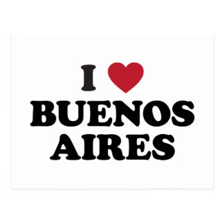 I corazón Buenos Aires la Argentina Tarjeta Postal