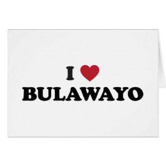 I corazón Bulawayo Zimbabwe Tarjeta De Felicitación