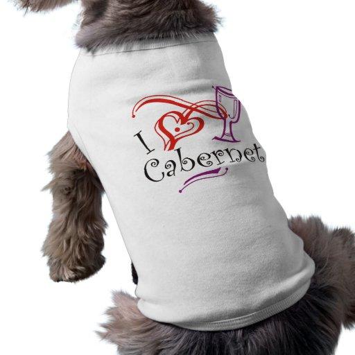 I corazón Cabernet Camisetas De Perrito
