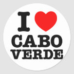 I corazón Cabo Verde Etiquetas