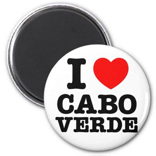 I corazón Cabo Verde Imán Redondo 5 Cm