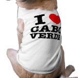I corazón Cabo Verde Playera Sin Mangas Para Perro
