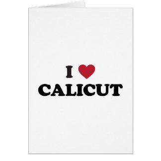 I corazón Calicut la India Kozhikode Tarjeta De Felicitación
