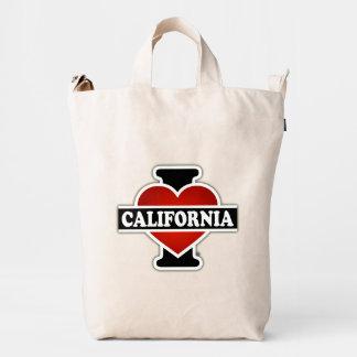 I corazón California Bolsa De Lona Duck