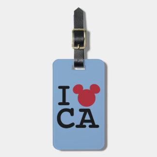 I corazón California Etiquetas Maleta