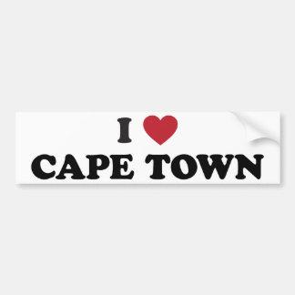 i corazón Cape Town Suráfrica Pegatina Para Auto