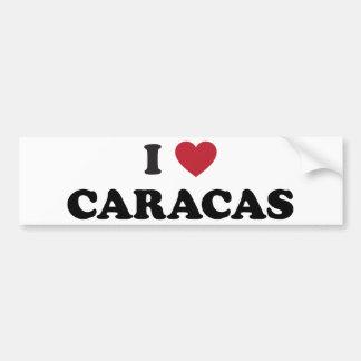 I corazón Caracas Venezuela Etiqueta De Parachoque