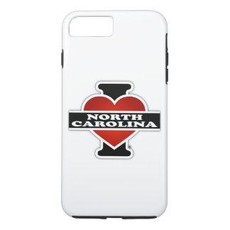 I corazón Carolina del Norte Funda iPhone 7 Plus