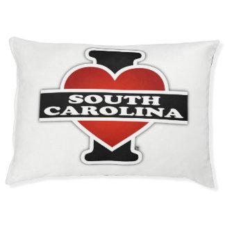 I corazón Carolina del Sur Cama Para Perro Grande
