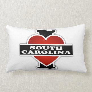 I corazón Carolina del Sur Cojín