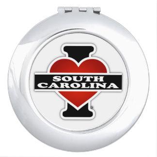 I corazón Carolina del Sur Espejos Compactos