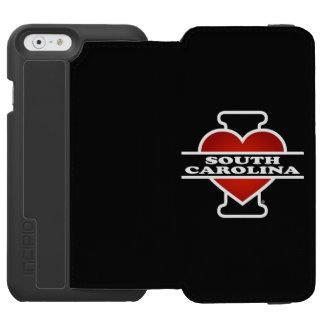 I corazón Carolina del Sur Funda Billetera Para iPhone 6 Watson