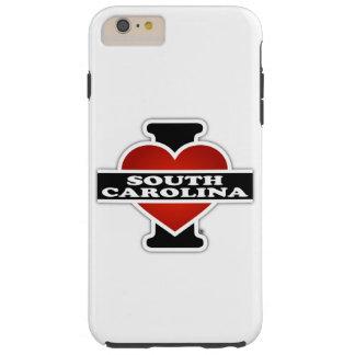 I corazón Carolina del Sur Funda Para iPhone 6 Plus Tough