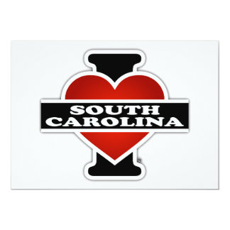 """I corazón Carolina del Sur Invitación 5"""" X 7"""""""