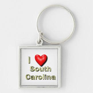 I corazón Carolina del Sur Llavero