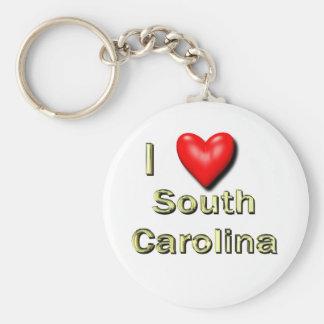 I corazón Carolina del Sur Llaveros Personalizados