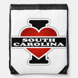 I corazón Carolina del Sur Mochila