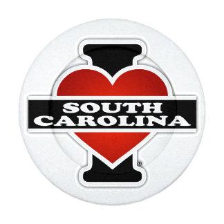 I corazón Carolina del Sur Paquete Pequeño De Tapa Botones