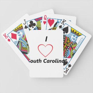 I corazón Carolina del Sur Baraja