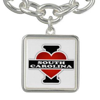I corazón Carolina del Sur Pulseras