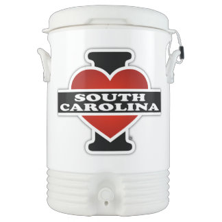 I corazón Carolina del Sur Refrigerador De Bebida Igloo