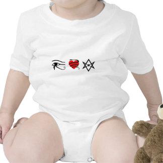 I corazón (ceñido con una serpiente) Thelema Trajes De Bebé