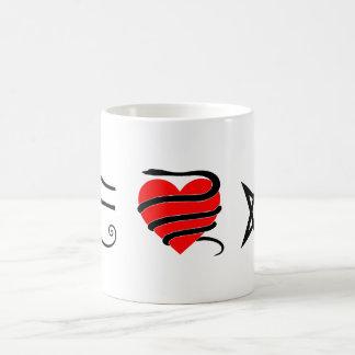 I corazón (ceñido con una serpiente) Thelema Tazas De Café