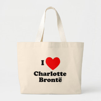 I corazón Charlotte Bronte Bolsa Tela Grande
