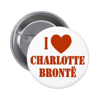 I corazón Charlotte Bronte Pin Redondo De 2 Pulgadas