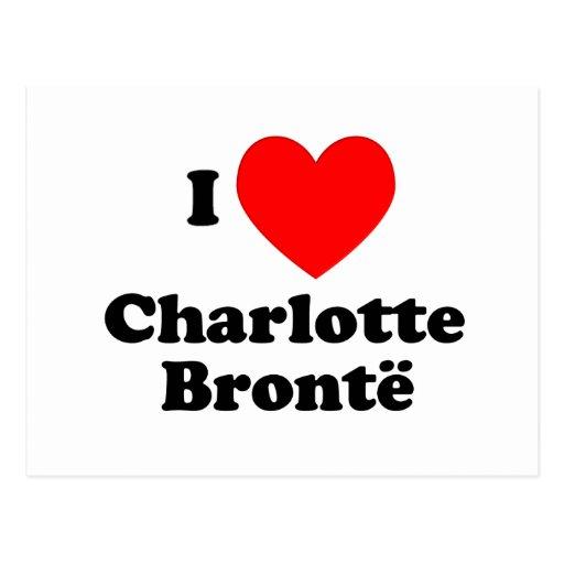 I corazón Charlotte Bronte Tarjetas Postales