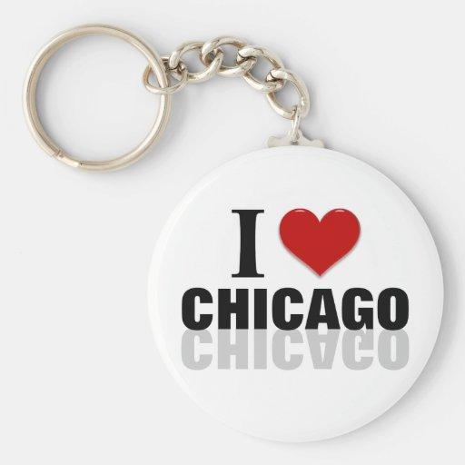I corazón Chicago Llavero