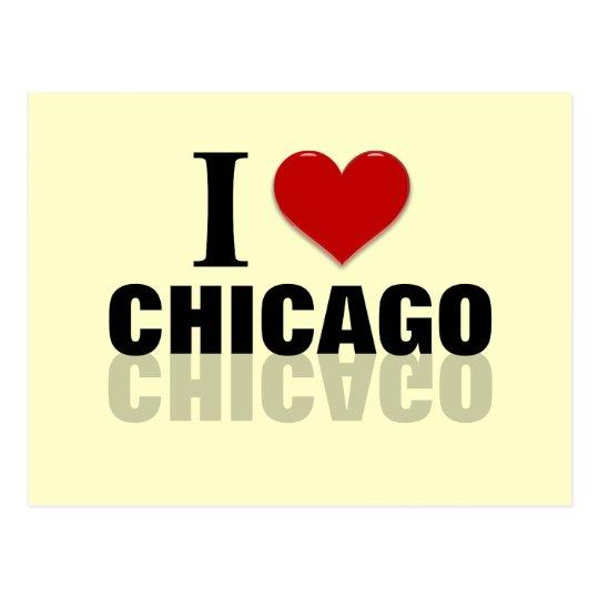 I corazón Chicago Tarjeta Postal