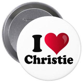 I corazón Chris Christie Pins