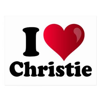 I corazón Chris Christie Postales