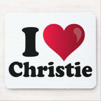 I corazón Chris Christie Tapete De Ratón