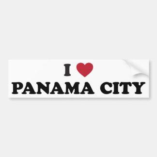 I corazón ciudad de Panamá Panamá Pegatina De Parachoque