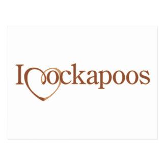 I corazón Cockapoos Postal