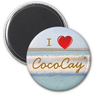 I corazón CocoCay Imán De Frigorífico